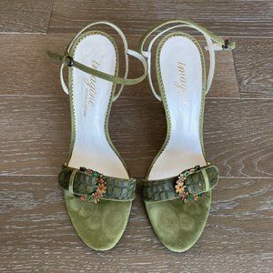 Imagine by Vince Camuto Croc Pony Sandal   Green